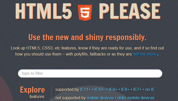 html5 please chart standards compliance