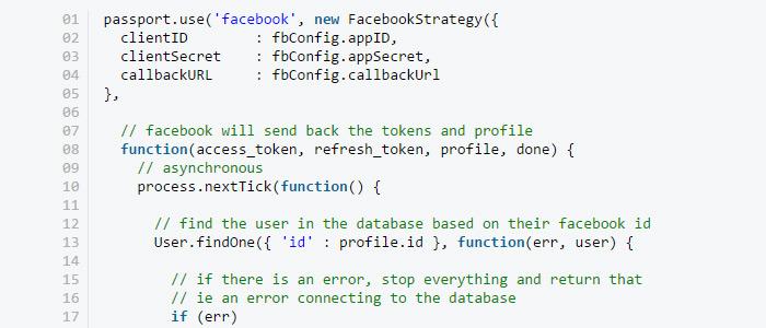 social authentication nodejs apps