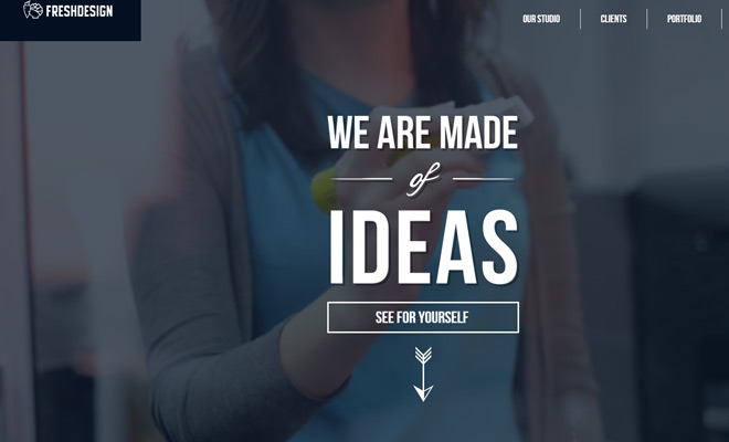 fresh design agency studio website