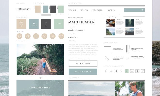 terasu style tile homepage
