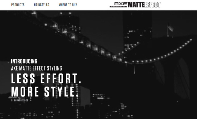 axe matte effect video background