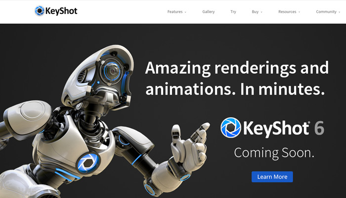 keyshot 3d software website