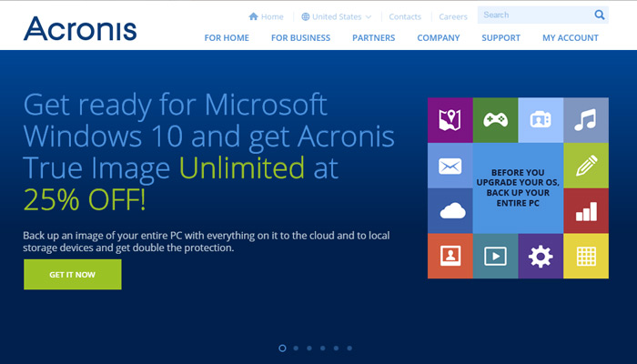 acronis backup software website