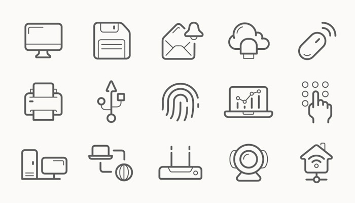 50 Modern Examples of Thin Line Icons