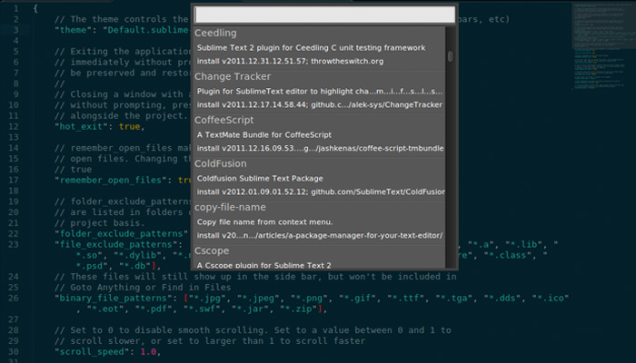 sublime text package manager plugin
