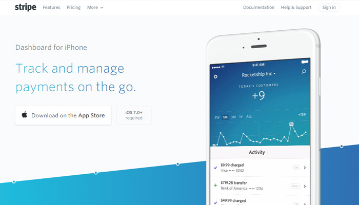 Stripe payment app page