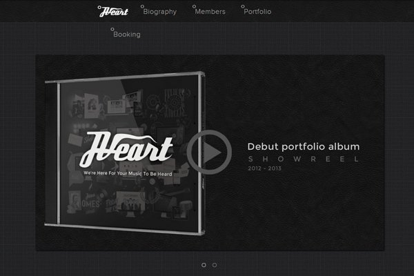 jveart design marketing dark website