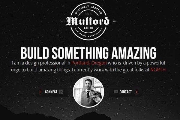 ryan mulford freelance design portfolio layout