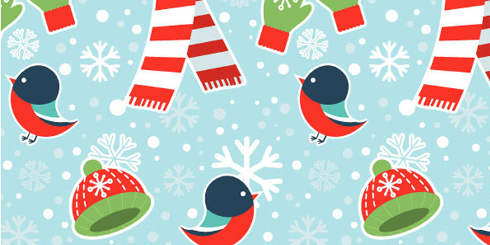 cute seamless winter graphics pattern