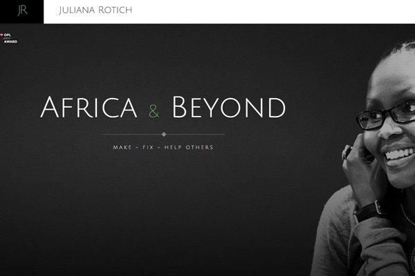 dark website layout juliana rotich