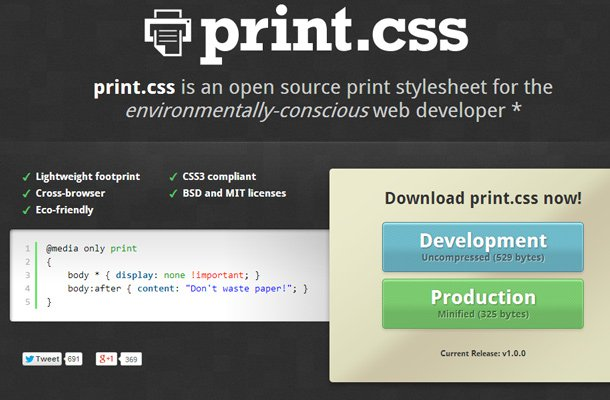 28 powerful open source css frameworks libraries print css stylesheet open source free download malvernweather Images
