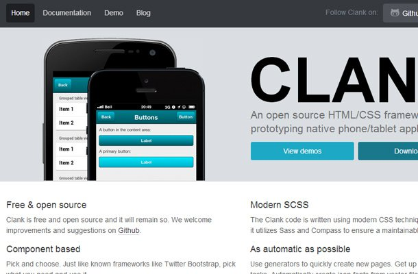 28 powerful open source css frameworks libraries clank mobile tablet css framework open source malvernweather Gallery