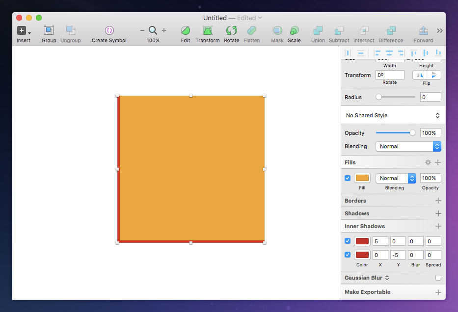 Single-Sided Border Hack in Sketch