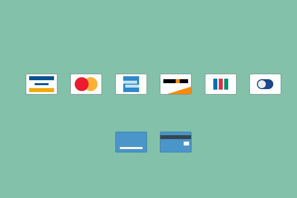 simple basic credit card shapes icons