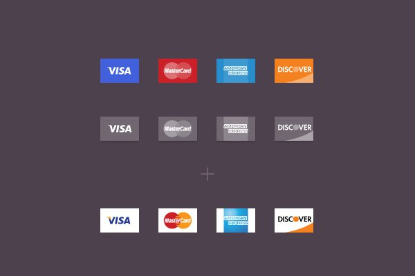 freebie psd set icons credit cards
