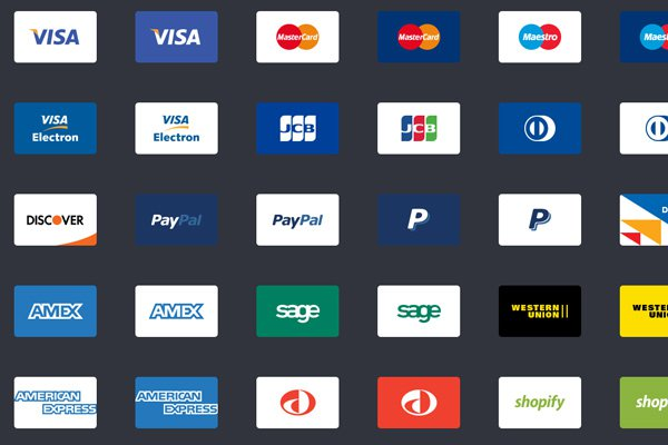 bowtied payment method icons iconset webpage