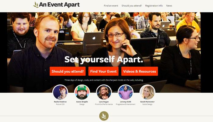 An Event Apart homepage circa 2015