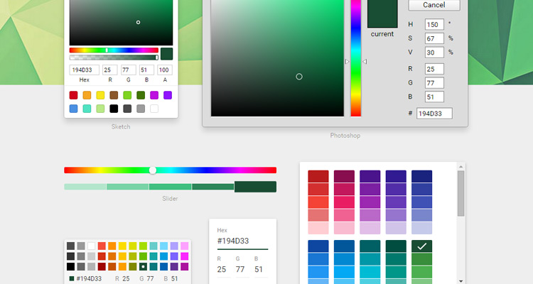 color picker ui default