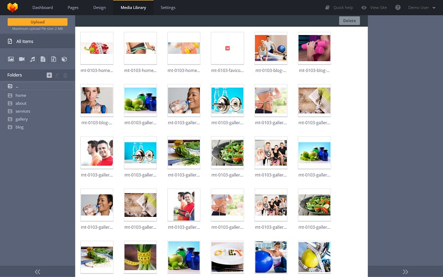 motocms responsive website builder file manager