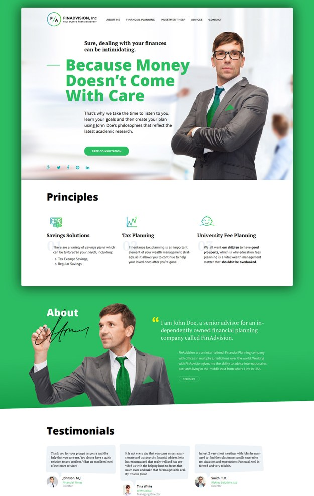 3 business wp theme