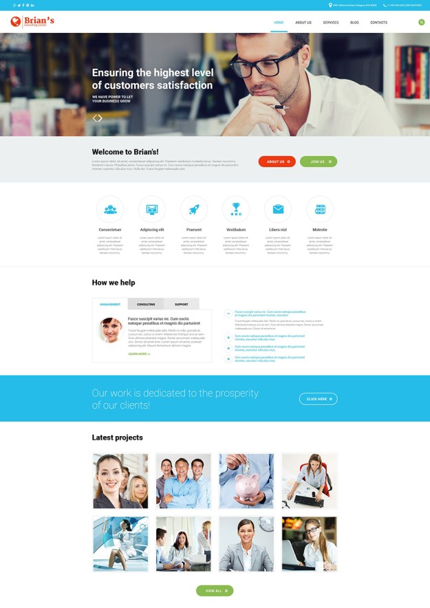 7 business and consulting wp theme