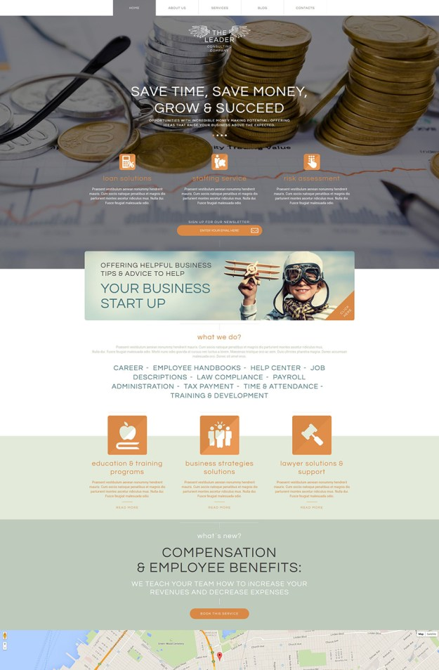9 business consulting wp theme
