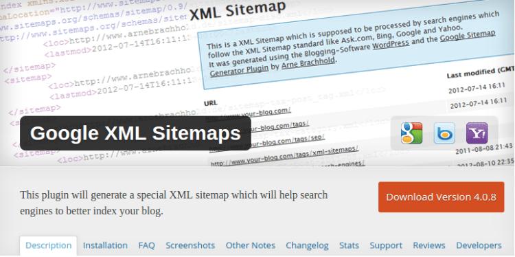 Google XML Site Map