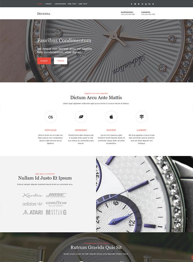 Devenna - free Website Template