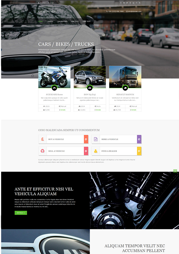 Escarine -Veh - free html5 template