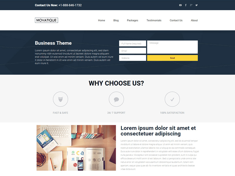 CW-Business-Lite - one of 20 free wordpress themes for business consultants