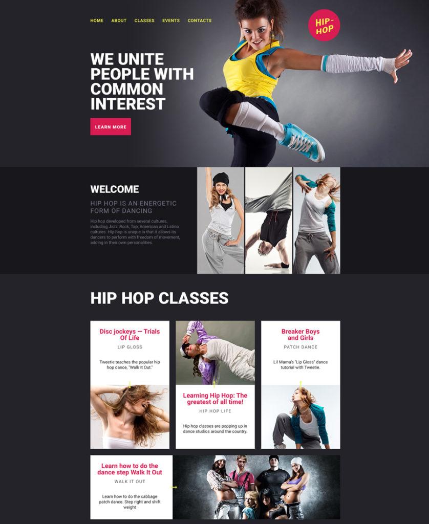 Dance Studio Landing Page Template