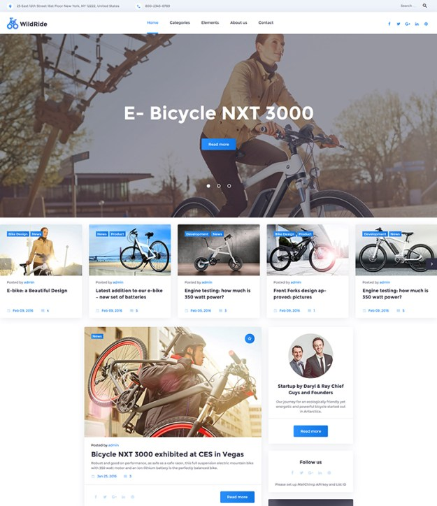 WildRide - one of the best blogging WordPress themes