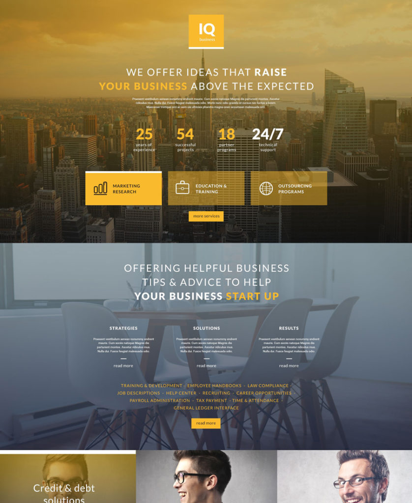 iq-business Landing Page Template