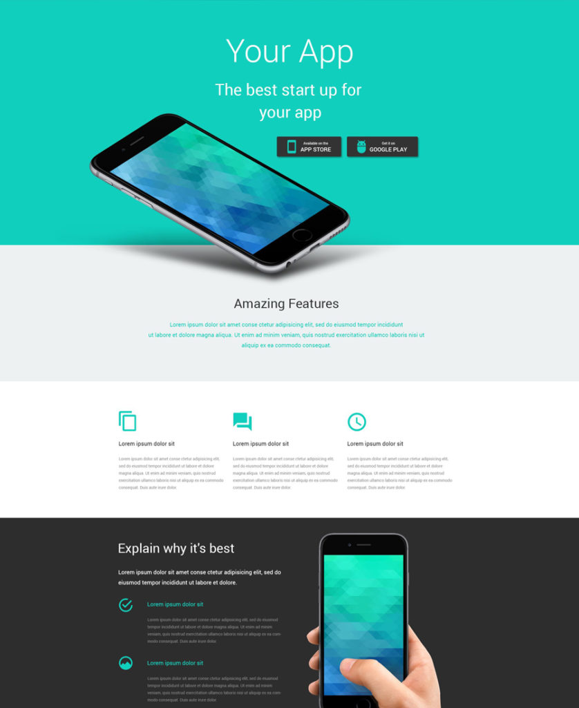 software Landing Page Template