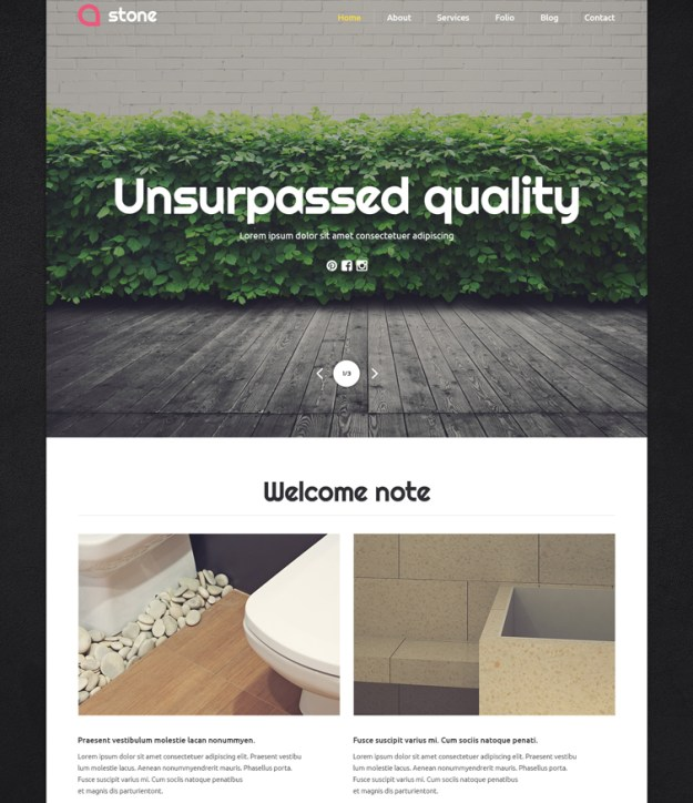 stone - one of the best blogging WordPress themes
