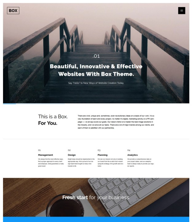 web-design blogging WordPress theme