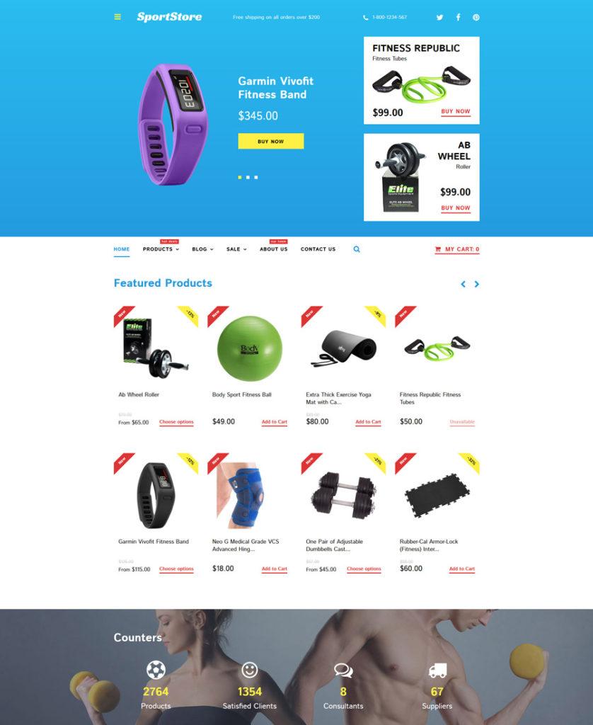 18-sport-store shopify theme