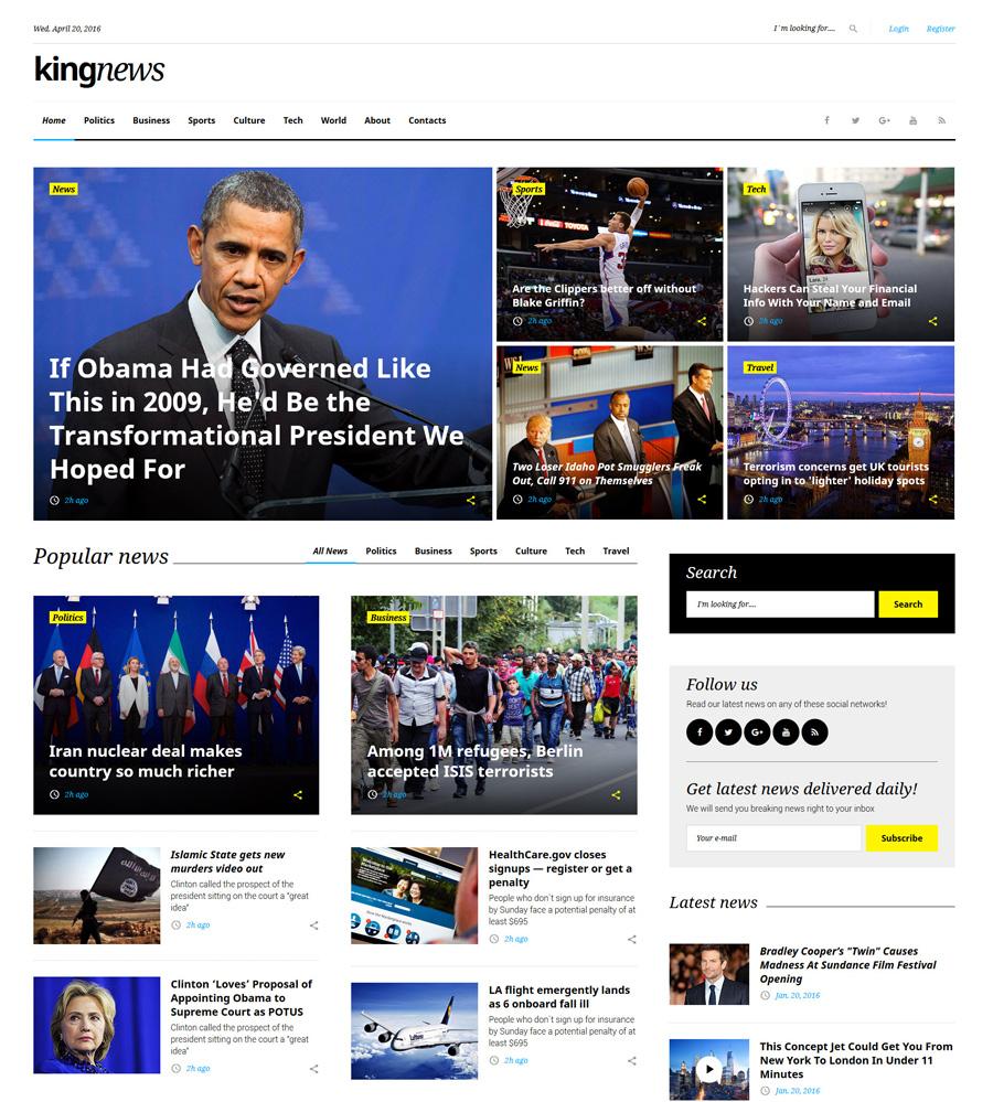 kingnews - one of the best multipurpose website templates