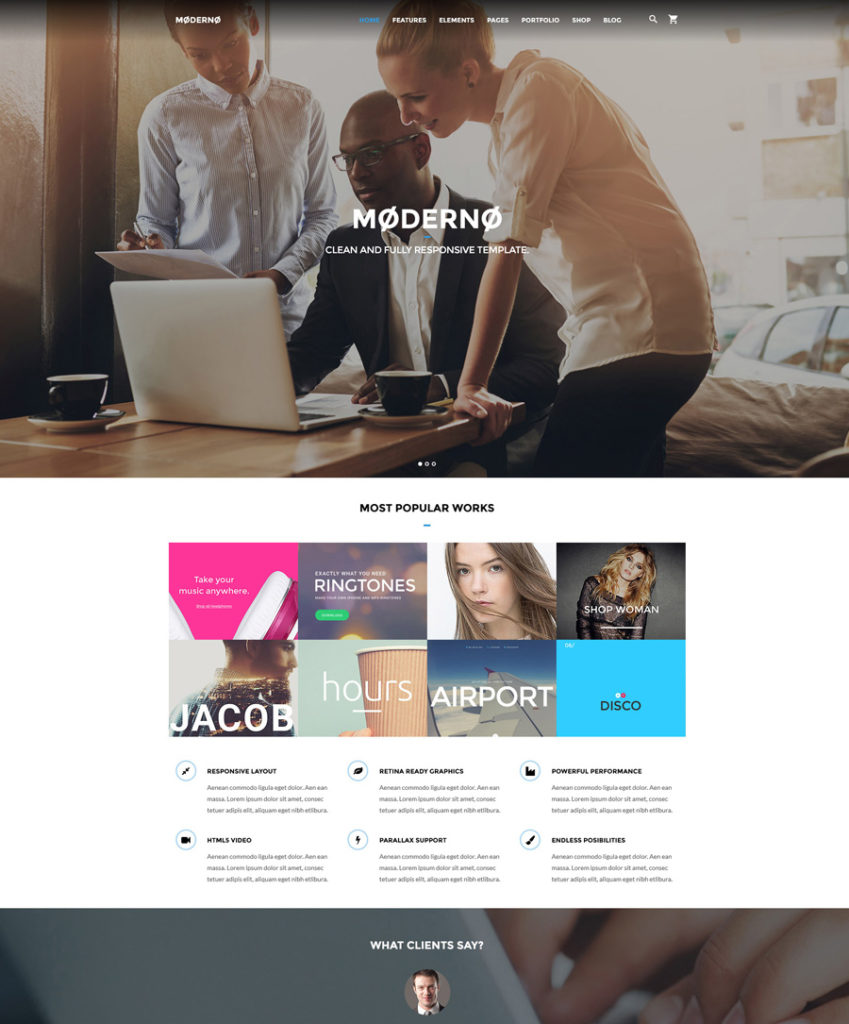 marketing-agency - one of the best multipurpose website templates