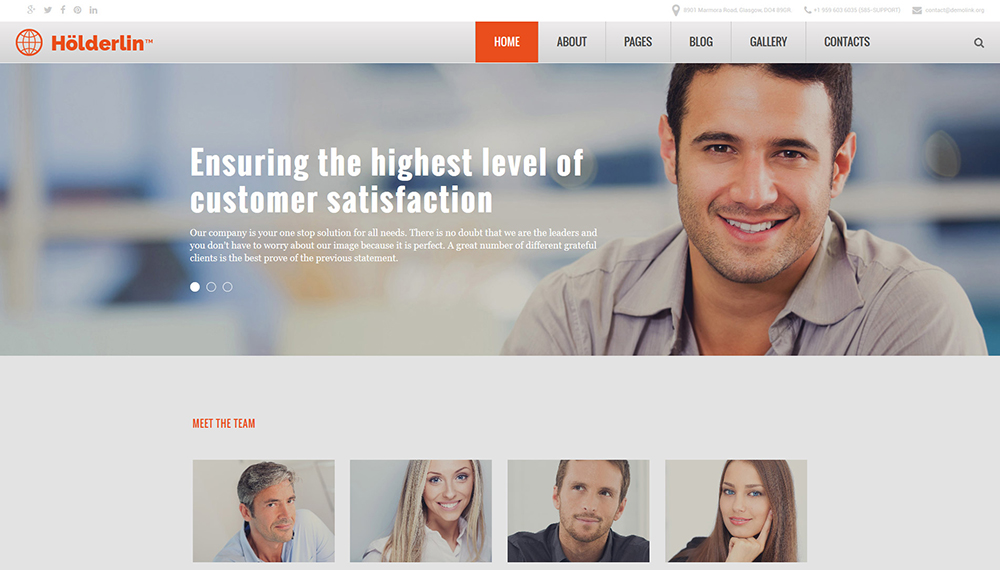 Business style Joomla 3 Template