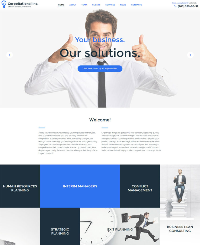 CorpoRational-WordPress-Theme - responsive WordPress themes