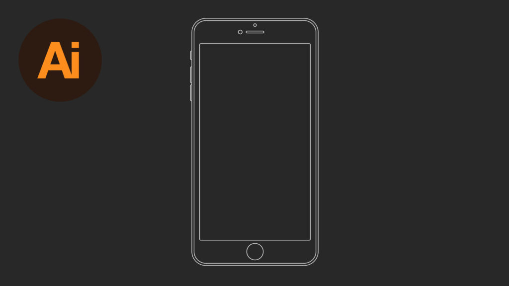 Dansky_Learn How to Draw an iPhone 6 Wireframe in Adobe Illustrator
