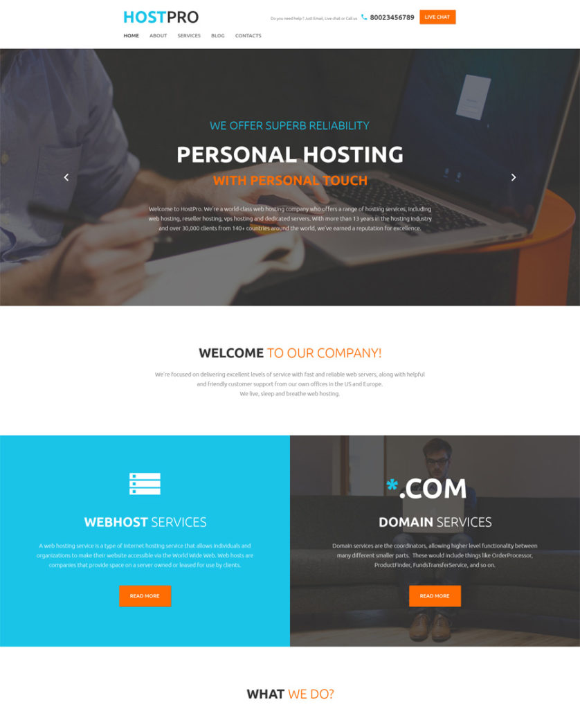 HostPro-WordPress-Theme