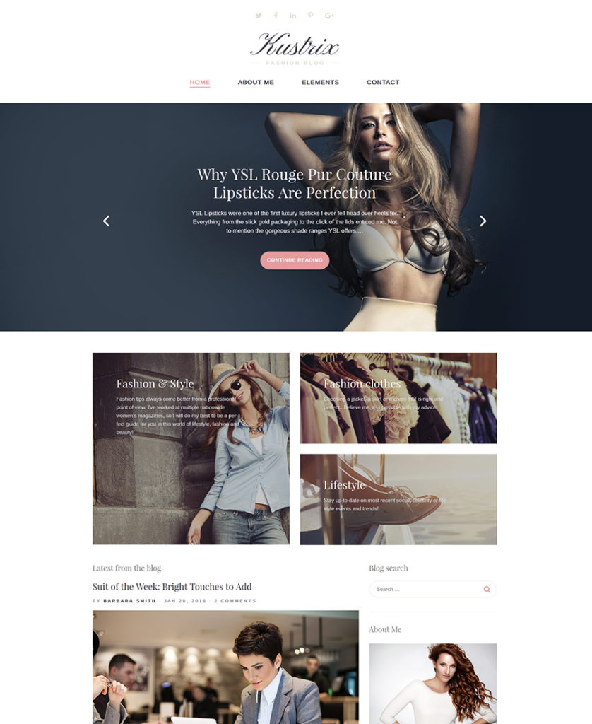 Kustrix WordPress theme