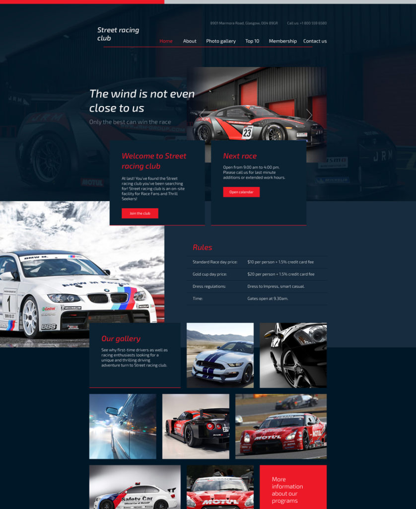 car-club-responsive-template responsive HTML5 templates