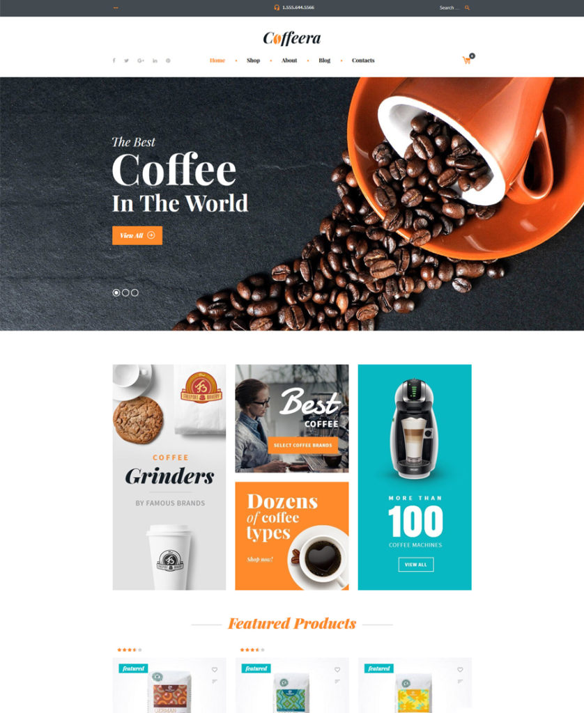 Coffeera WooCommerce Theme