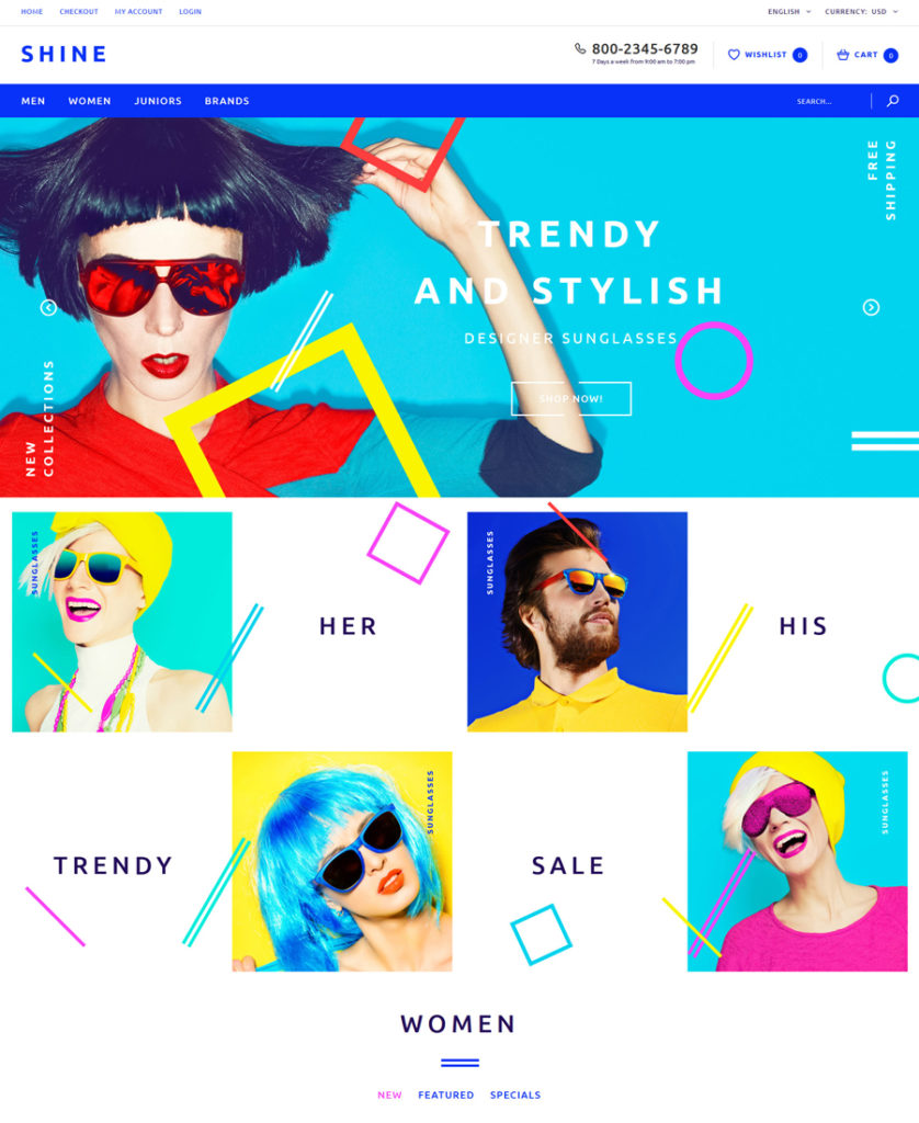 Shine OpenCart Template - responsive eCommerce templates