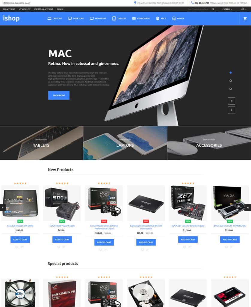iShop - Electronic Magento Theme - responsive eCommerce templates