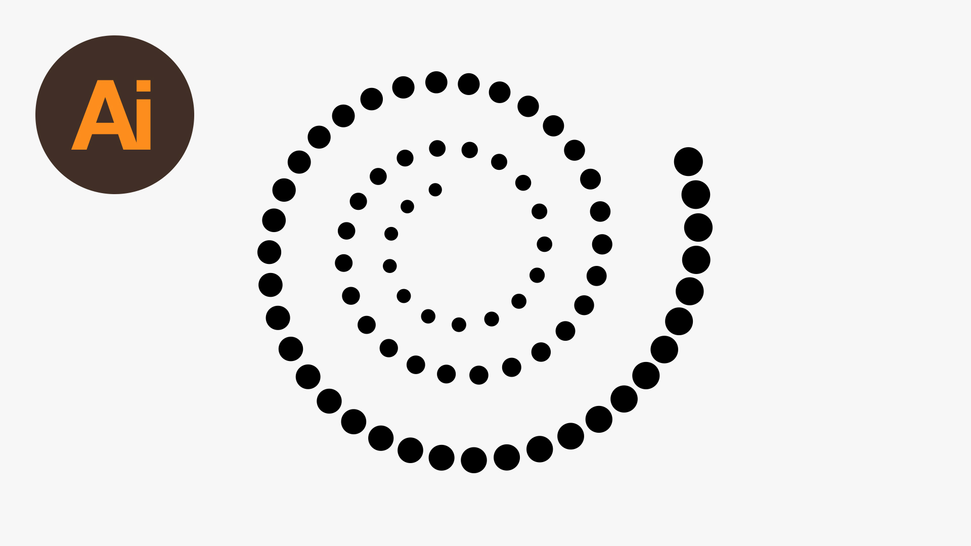 Create Dots on Spiral Path in Illustrator