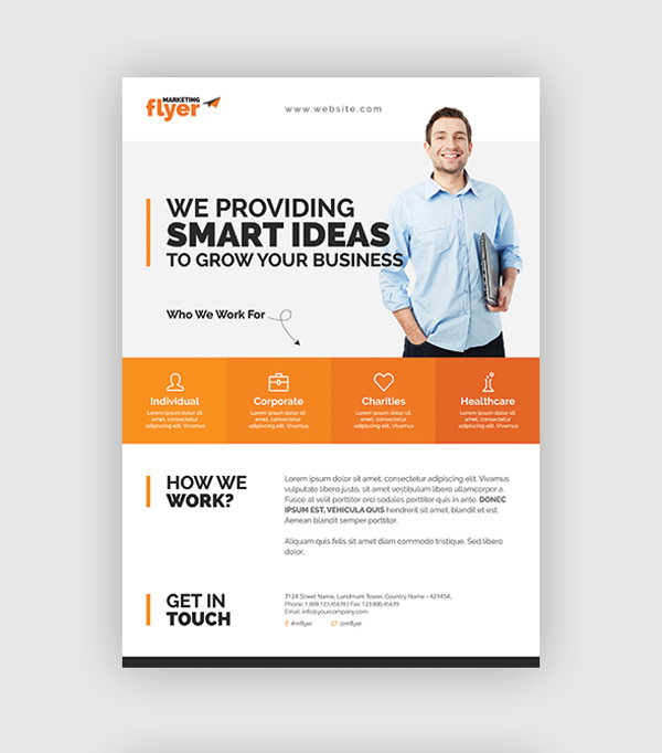 4-Corporation and Marketing Flyer Design Set